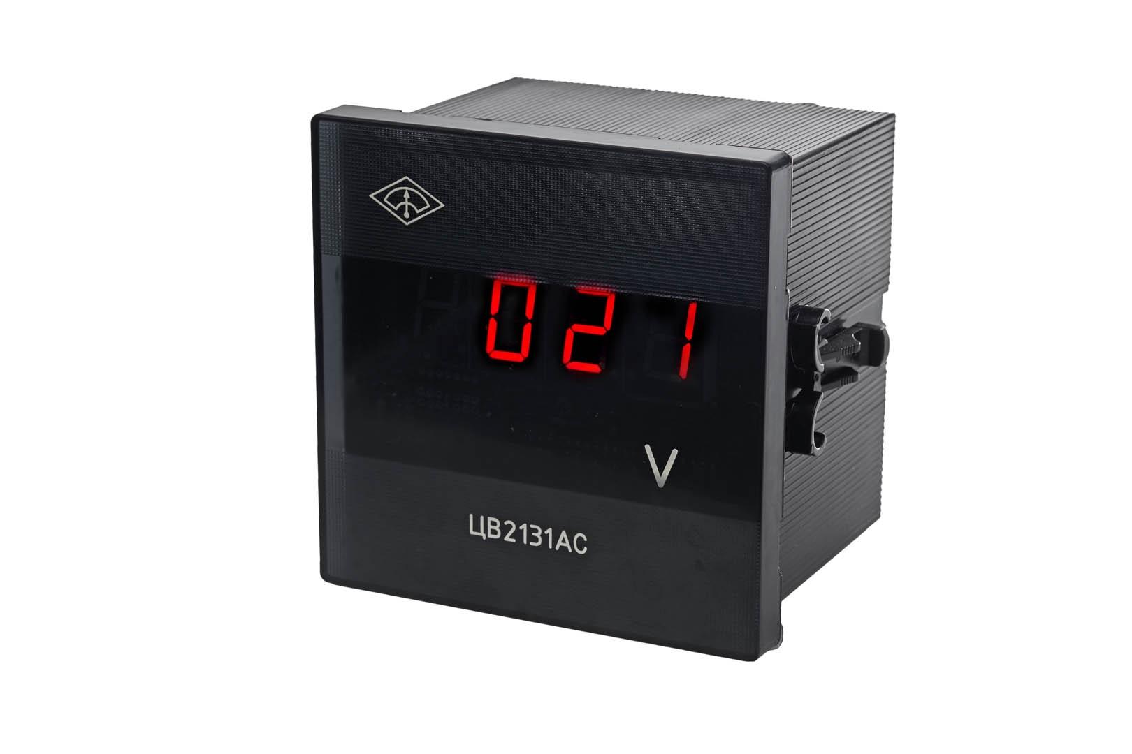 ЦВ2131DС - Вольтметр щитовой цифровой постоянного тока - продукция СамараПрибор.